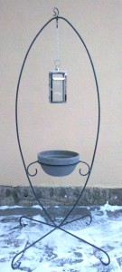 MStänder oval 1,8m mit Pflanzschale